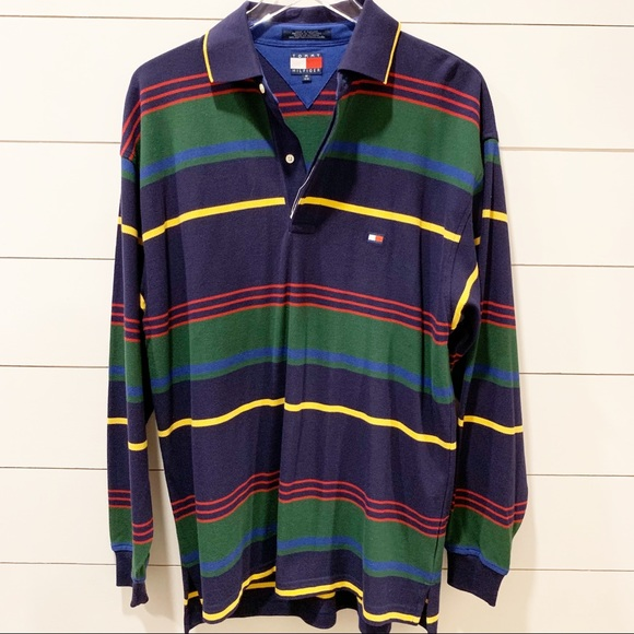 Tommy Hilfiger Other - TOMMY HILFIGER Long Sleeve Stripe Polo NWOT Size M